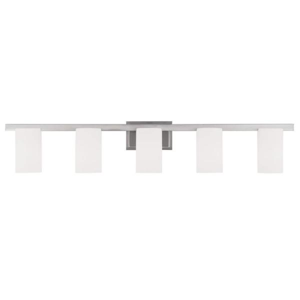 Providence 5-Light Brushed Nickel Incandescent Wall Vanity Light
