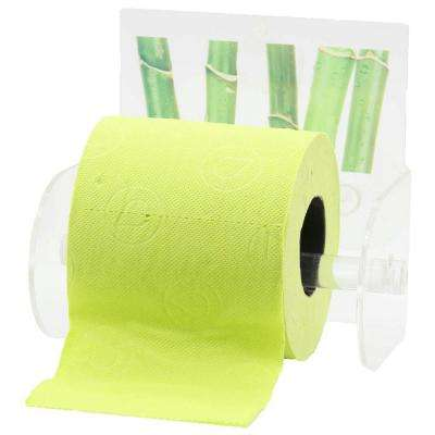 Ecobio Toilet Paper Holder Paper 1-Roll Holder Suction Mounted in 100% Acrylic