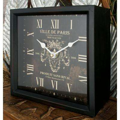 "8 in. x 8 in. Multi Square ""Ville de Paris"" Table Clocks (Set of 3)"