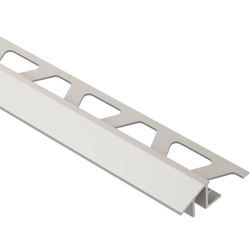 Reno-TK Satin Nickel Anodized Aluminum 1/2 in. x 8 ft. 2-1/2 in. Metal Reducer Tile Edging Trim