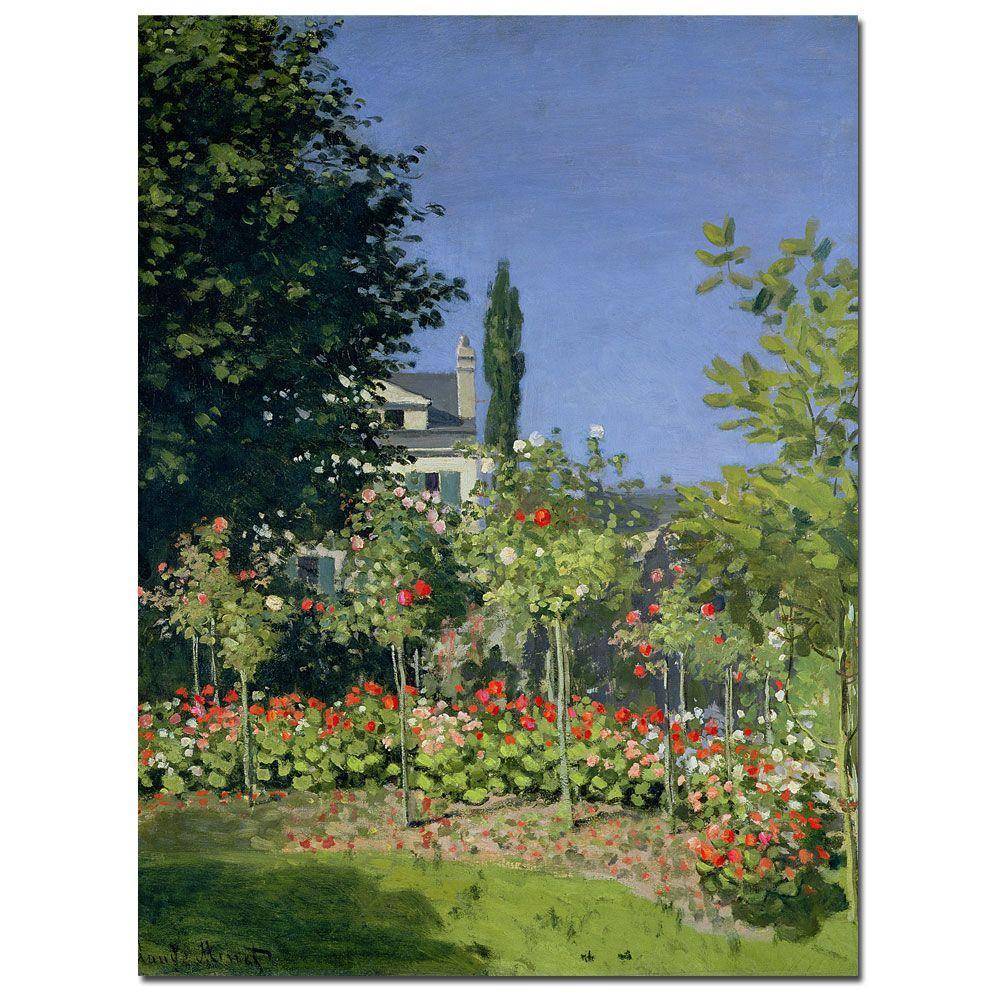 """35 in. x 47 in. """"Flowering Garden at Sainte-Adresse 1866"""" Canvas"""