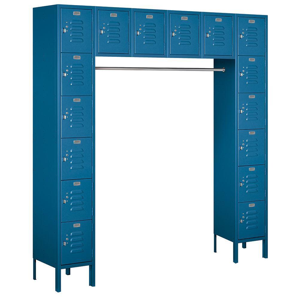 Salsbury Industries 66000 Series 72 in. W x 78 in. H x 18 in. D Box Style Bridge Metal Locker Assembled in Blue