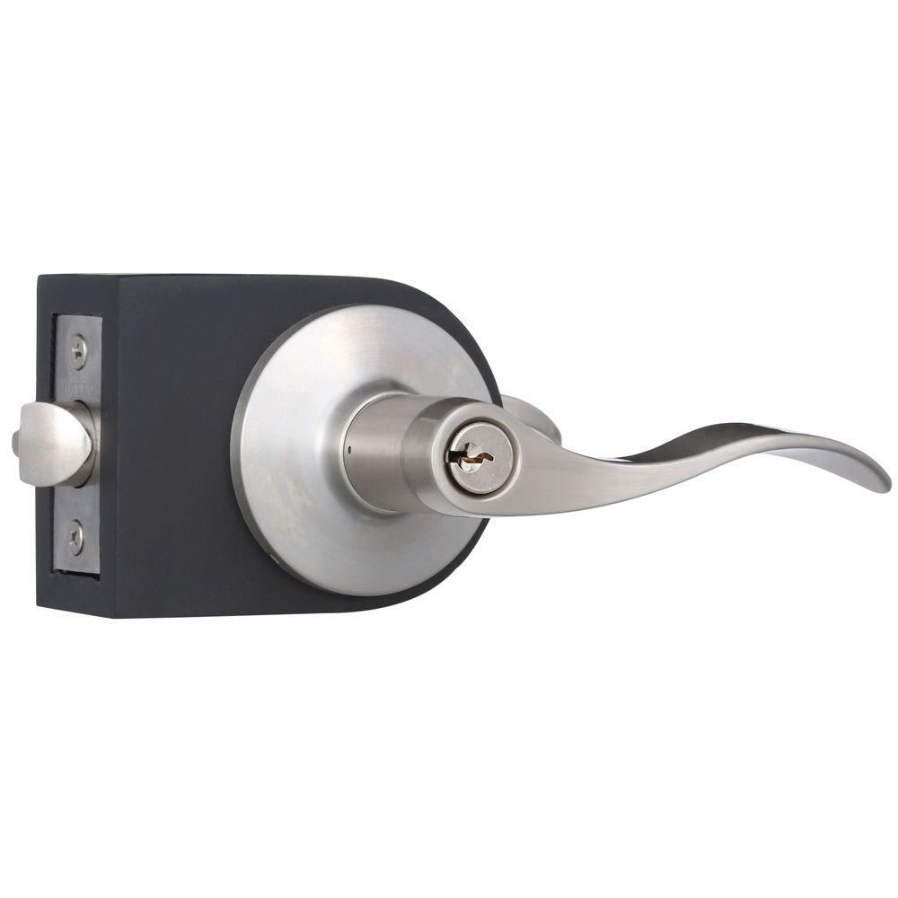 Toledo Fine Locks Bright Nickel Entry Lever Set