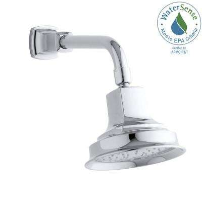 Margaux 1-Spray Single Function 5.9375 in. Katalyst Air-Induction Showerhead in Polished Chrome
