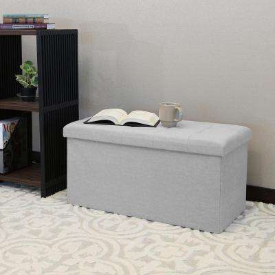 Alpine Gray Storage Bench