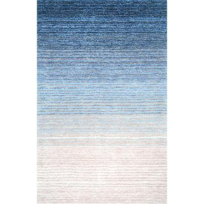 Drey Ombre Shag Blue 6 ft. x 9 ft. Area Rug