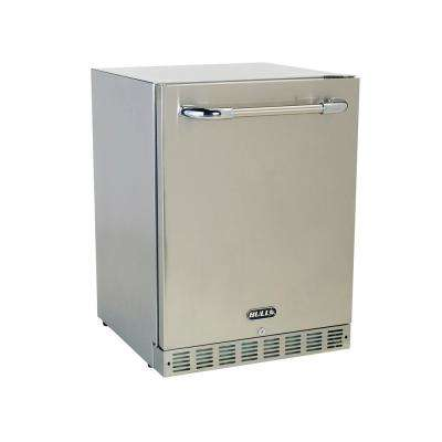 25 in. W 4.9 cu. ft. Built-In Stainless Steel Outdoor Mini Fridge, Premium 2 with Lock and Key without Freezer