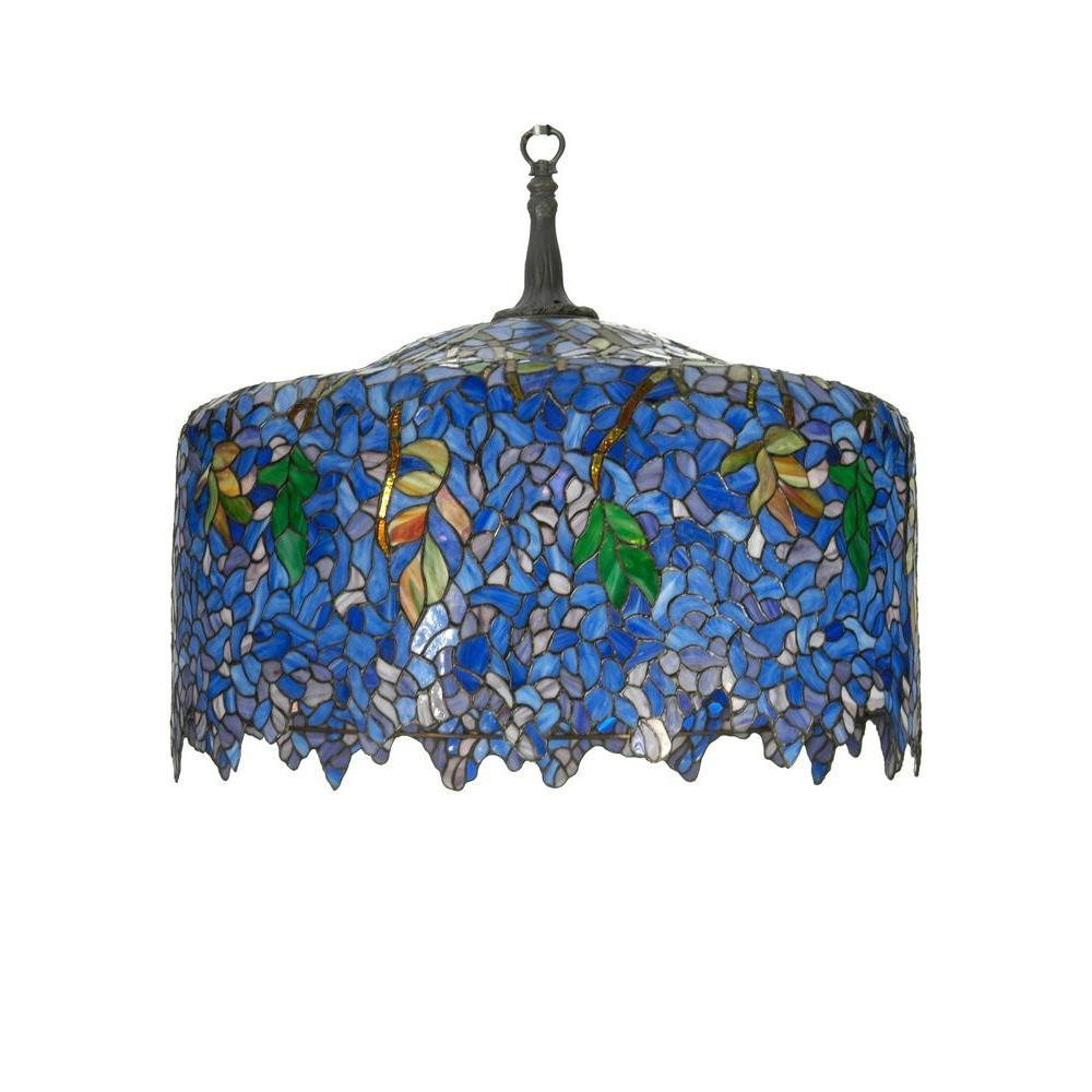 Illumine 5 Light Tiffany Wisteria Pendant