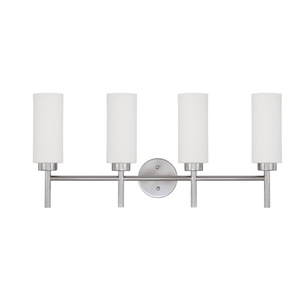 Inspire 4-Light Satin Nickel Bath Light