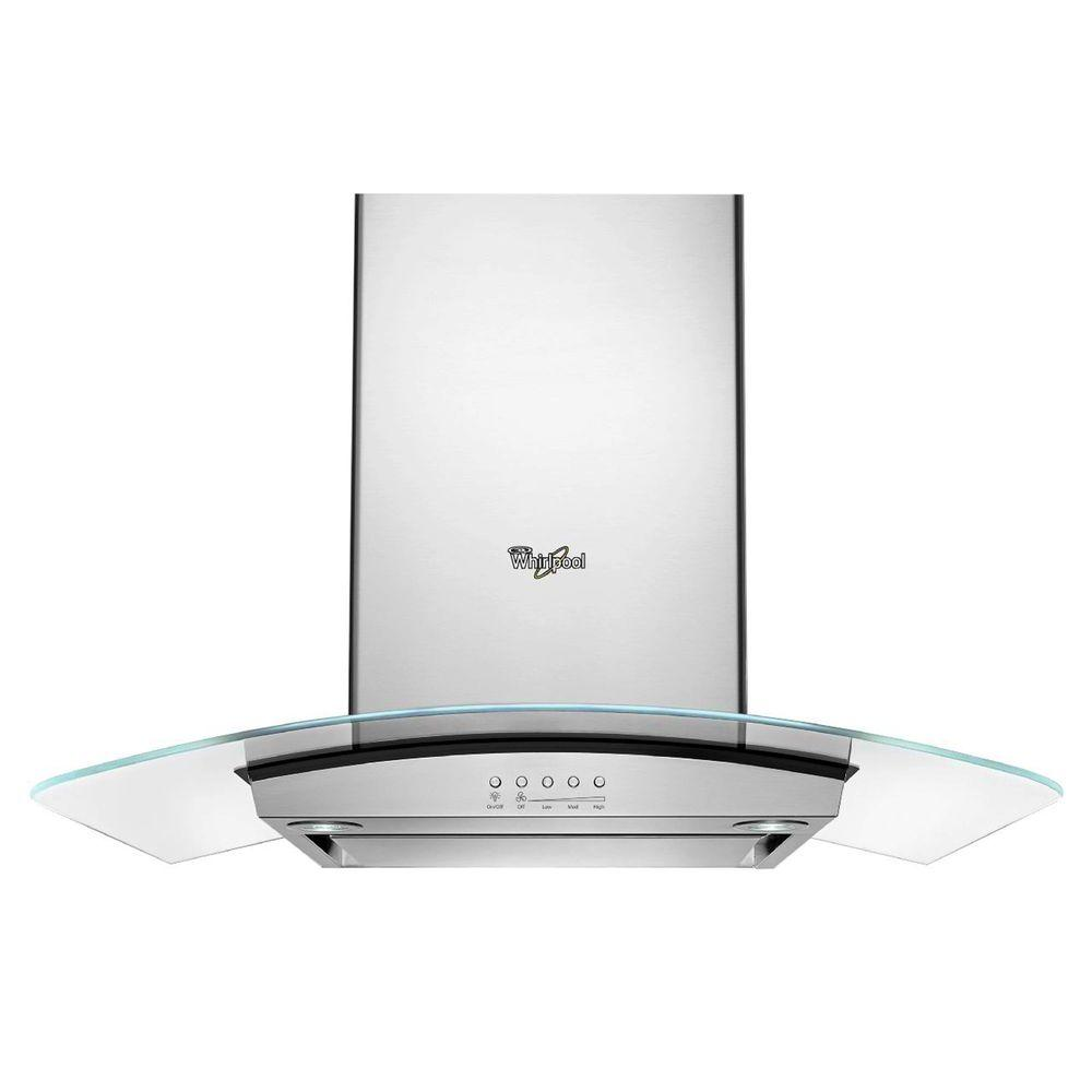 Whirlpool 36 in. Modern Glass Wall Mount Range Hood in Stainless Steel  sc 1 st  Home Depot & Whirlpool 36 in. Modern Glass Wall Mount Range Hood in Stainless ...