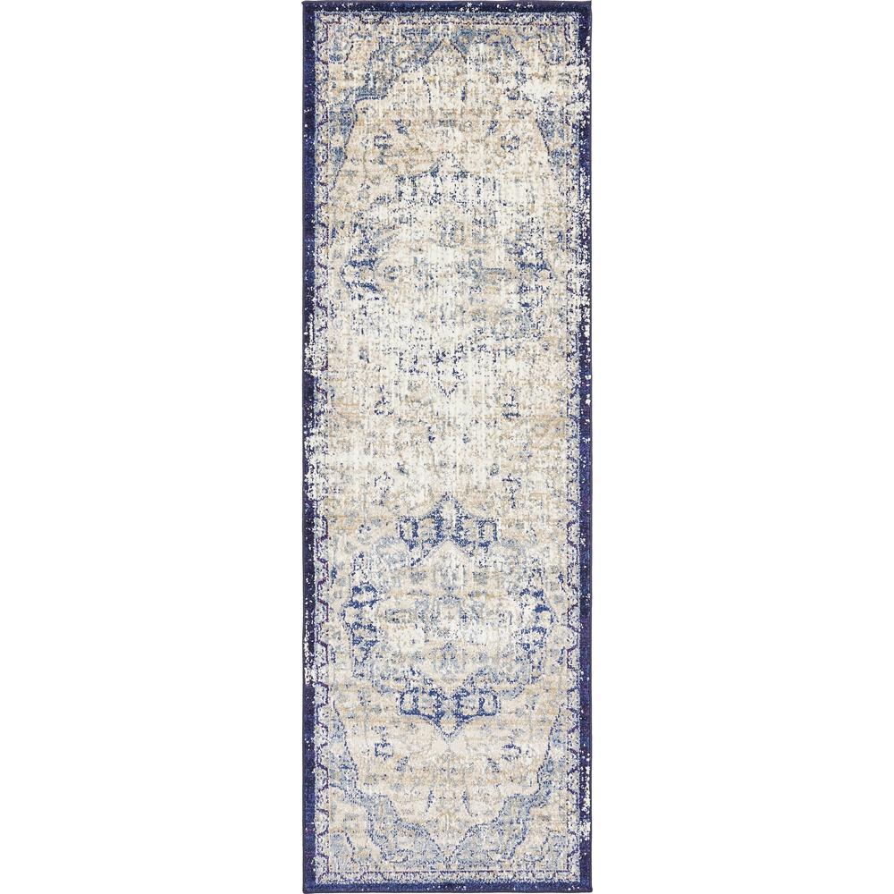 Augustus Turin Blue 2' 2 x 6' 7 Runner Rug
