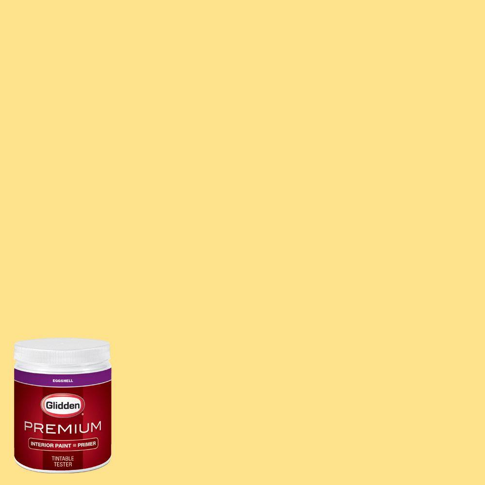 Glidden premium 8 oz hdgy41u fresh pineapple eggshell interior paint sample with primer for Glidden premium interior paint reviews