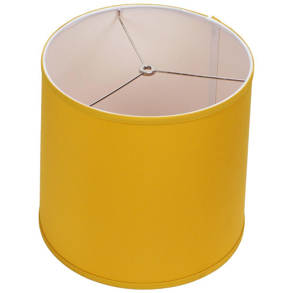 12 in. Top Diameter x 13 in. Bottom Diameter x 12 in. Linen Curry Slant Empire Lamp Shade