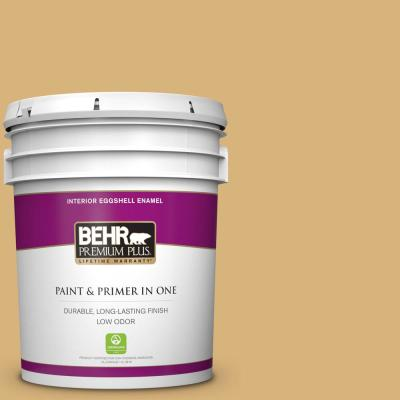 Behr Premium Plus 5 Gal Ppf 23 Welcome Walkway Eggshell Enamel Low Odor Interior Paint And Primer In One 240005 The Home Depot