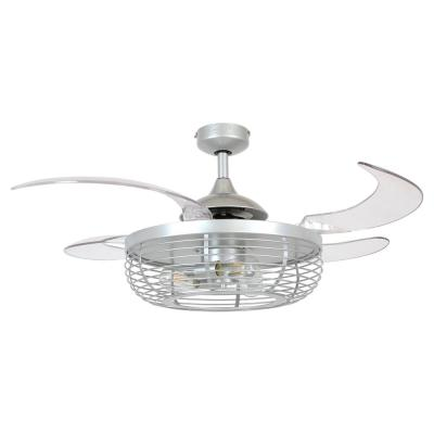Carbondale 48 in. Integrated LED Gray Silver and Clear Ceiling Fan with Light