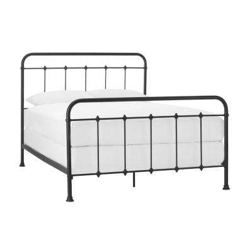 Dorley Farmhouse Black Metal Queen Bed (64.76 in W. X 53.54 in H.)