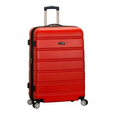 Melbourne 28 in. Red Expandable Hardside Dual Wheel Spinner Luggage,