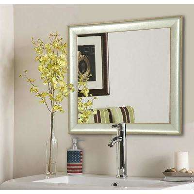 15.5 in. x 15.5 in. Vintage Silver Square Vanity Wall Mirror