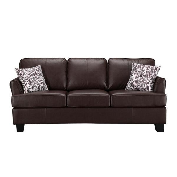 Signature Home Gracie Brown Faux Leather Hide A Bed Sofa