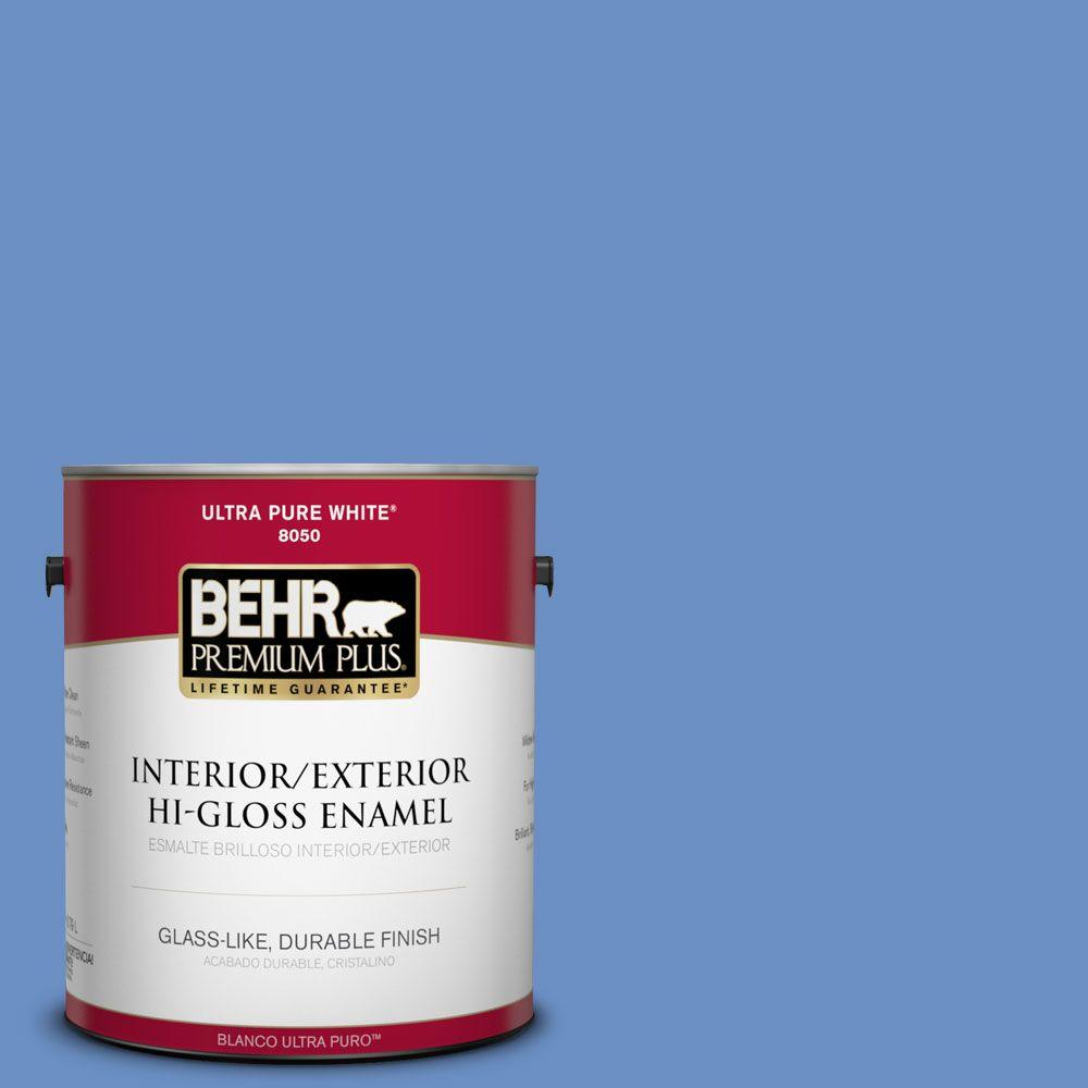 1-gal. #590B-5 Purple Hyacinth Hi-Gloss Enamel Interior/Exterior Paint