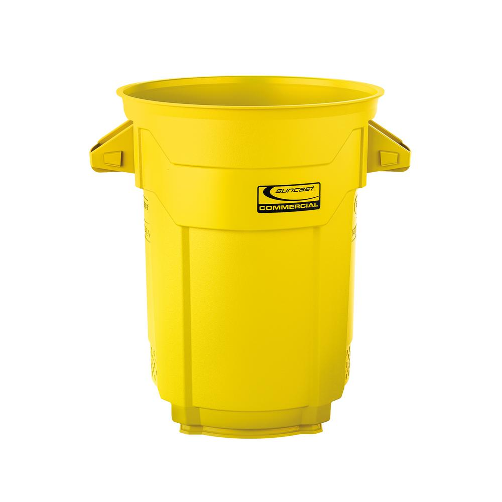 20 Gal. Yellow Commercial Trash Can