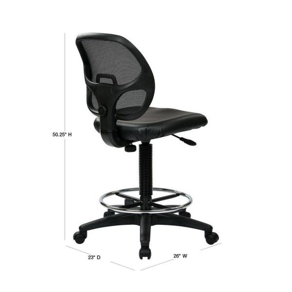 Office Star Products Black Drafting Chair Dc2990v The Home Depot