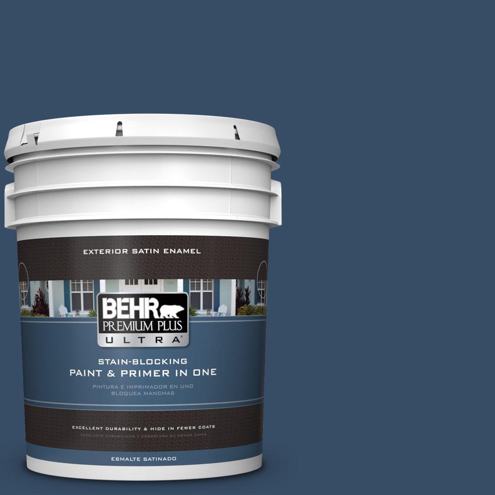 5 gal. #HDC-FL14-12 Rain Boots Satin Enamel Exterior Paint
