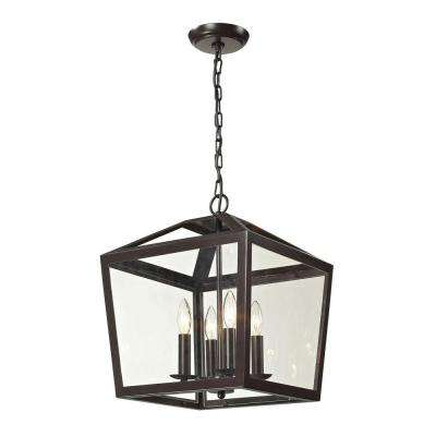 Haxby collection 4-Light Oil-Rubbed Bronze Semi Flush-Mount Light