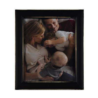 Longwood Rustic Black 8 in. x 10 in. Picture Frame