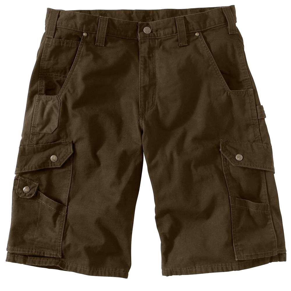 classic shoes factory outlet good out x Carhartt Men's Regular 34 Dark Coffee Cotton Shorts