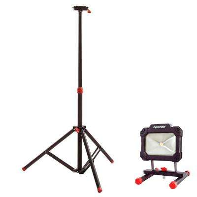 Tripod for Portable LED Work Light and 1500-Lumen Portable LED Work Light