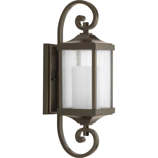 Devereux Collection 1-Light Antique Bronze 20.25 in. Outdoor Wall Lantern Sconce