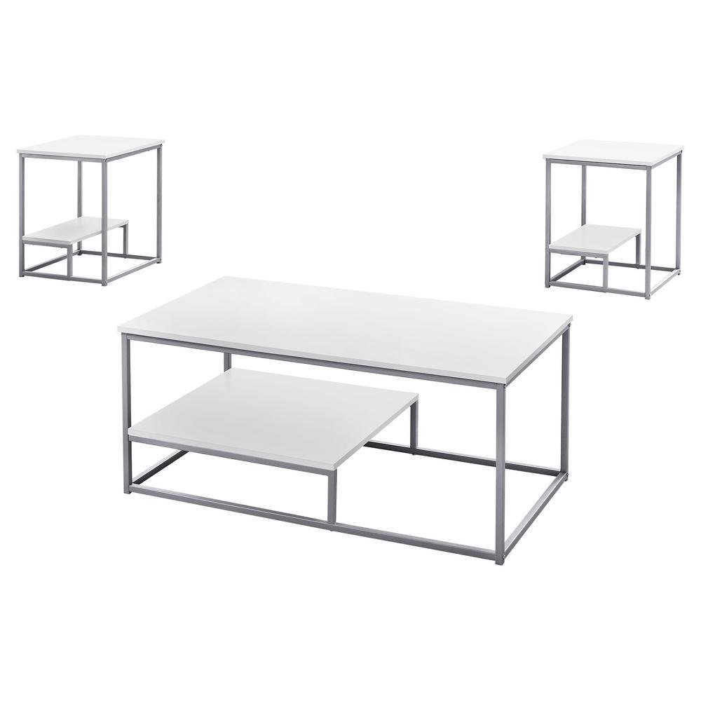 White 3-Piece Table Set