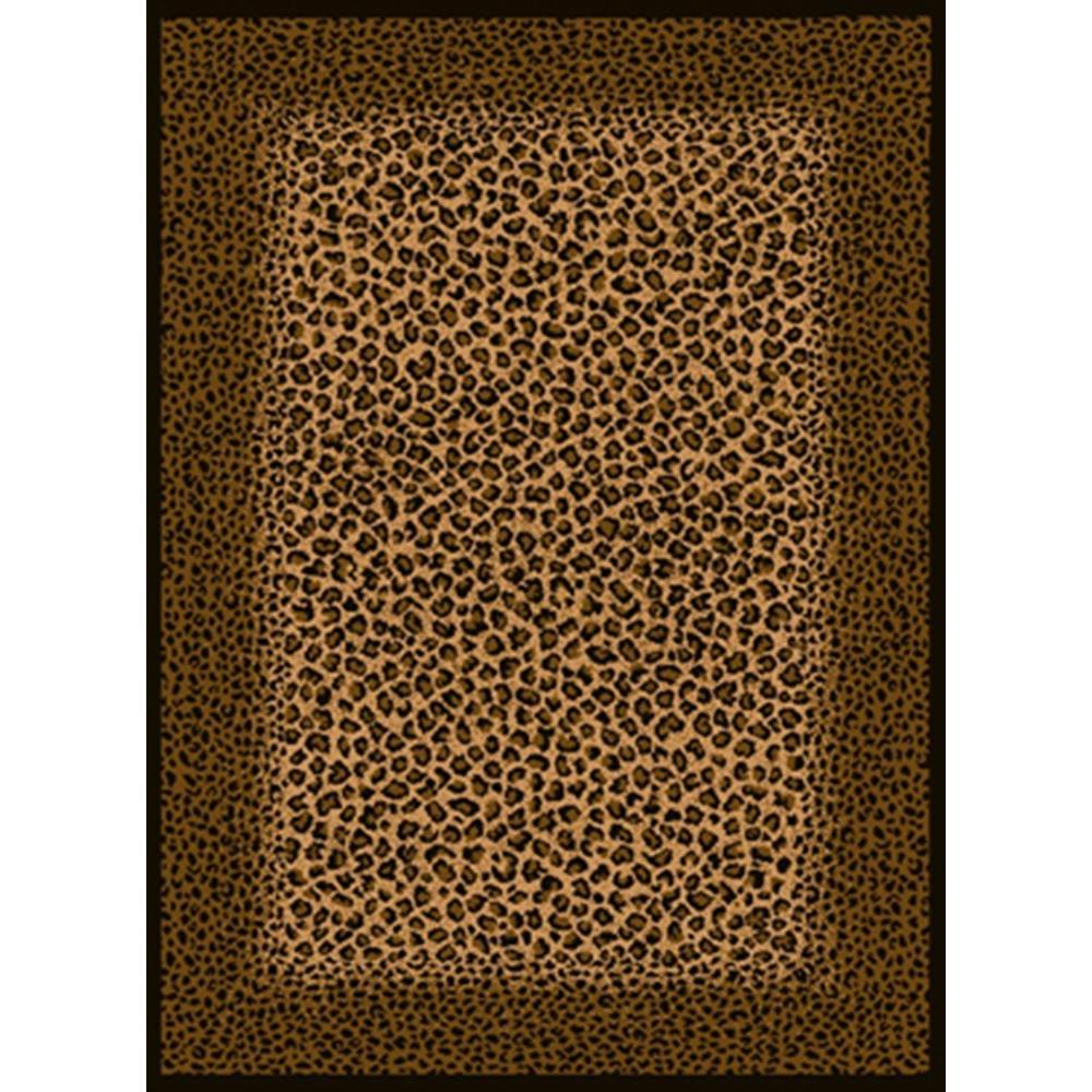 Leopard Skin Beige/Black 5 ft. x 7 ft. Area Rug