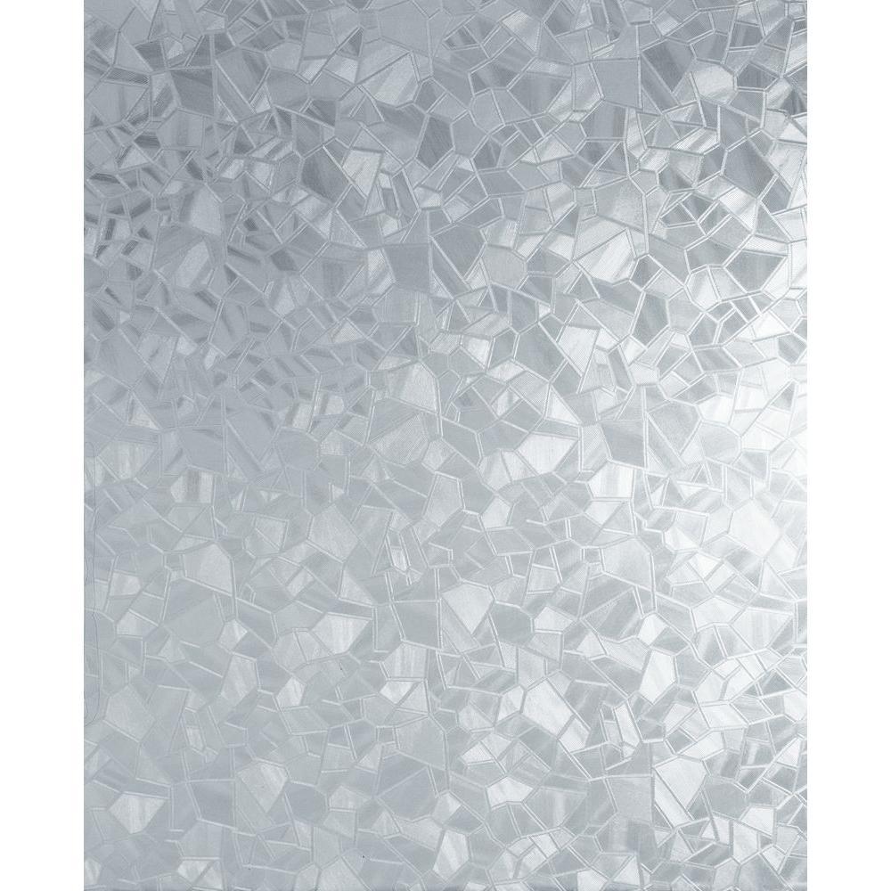 Splinter 17 in. x 78 in. Home Decor Self Adhesive Window Film (2-Pack)