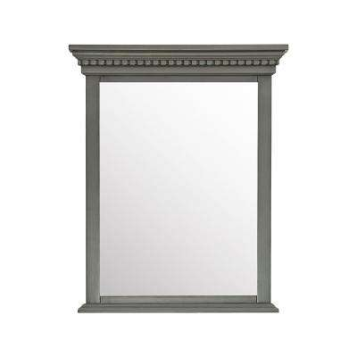 Hastings 28 in. W x 32 in. H Framed Mirror in French Gray