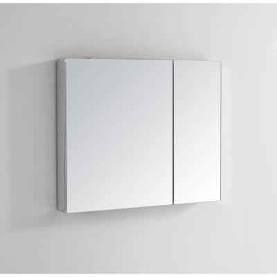 Royale 30 in W x 30 in. H Recessed or Surface Mount Medicine Cabinet with Bi-View Doors