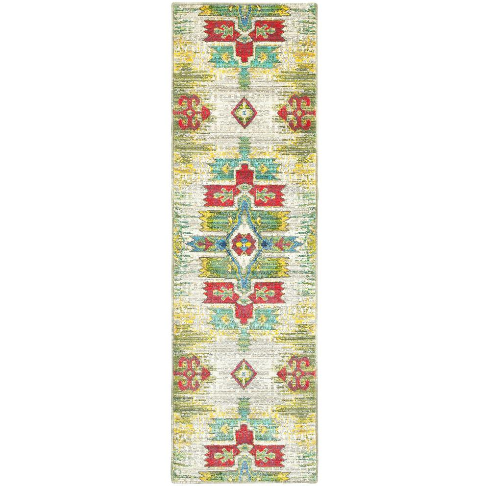 Home Decorators Collection Brizo Green 2 ft. x 8 ft. Runner Rug