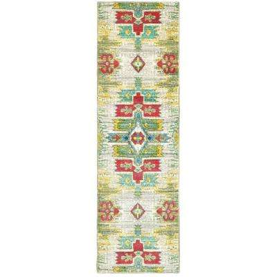 Brizo Green 2 ft. x 8 ft. Runner Rug