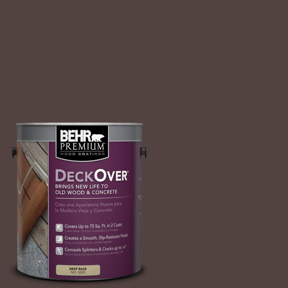 1 gal. #PFC-25 Dark Walnut Solid Color Exterior Wood and Concrete