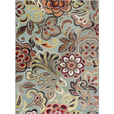 Deco Blue 5 ft. 3 in. x 7 ft. 3 in. Transitional Area Rug