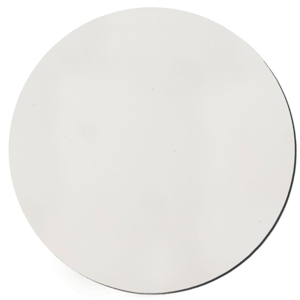 Paintable White Fabric Circle 24 in. Sound Absorbing Acoustic Insulation Wall