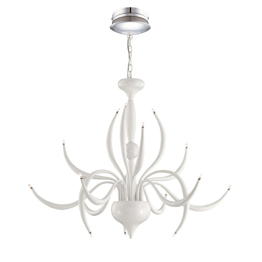 Eurofase Vertigo Collection 15-Light White Chandelier - DISCONTINUED
