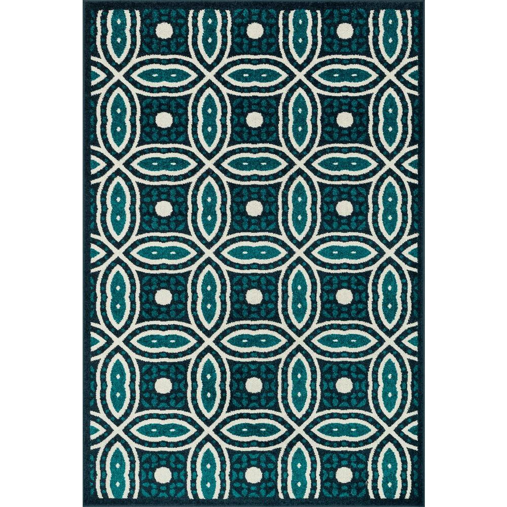 Loloi Rugs Catalina Lifestyle Collection Navy/Peacock 5 ft. 2 in. x 7 ft. 5 in. Area Rug