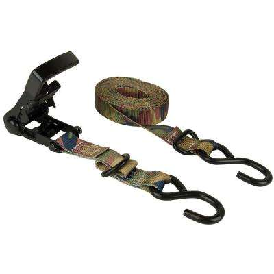 1.25 in. x 16 ft. Woodland Camo Ergo-Torque Ratchet Tie Down (2-Pack)