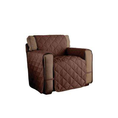 Chocolate Microfiber Ultimate Solid Chair Protector