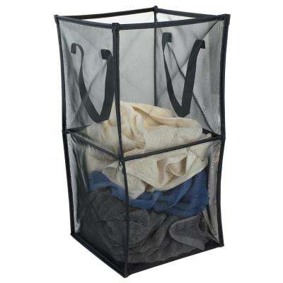 Medium Breathable Micro Mesh Black Collapsible Laundry Cube