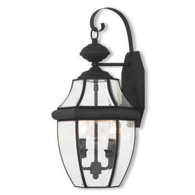 Monterey 2-Light Black Outdoor Wall Mount Lantern
