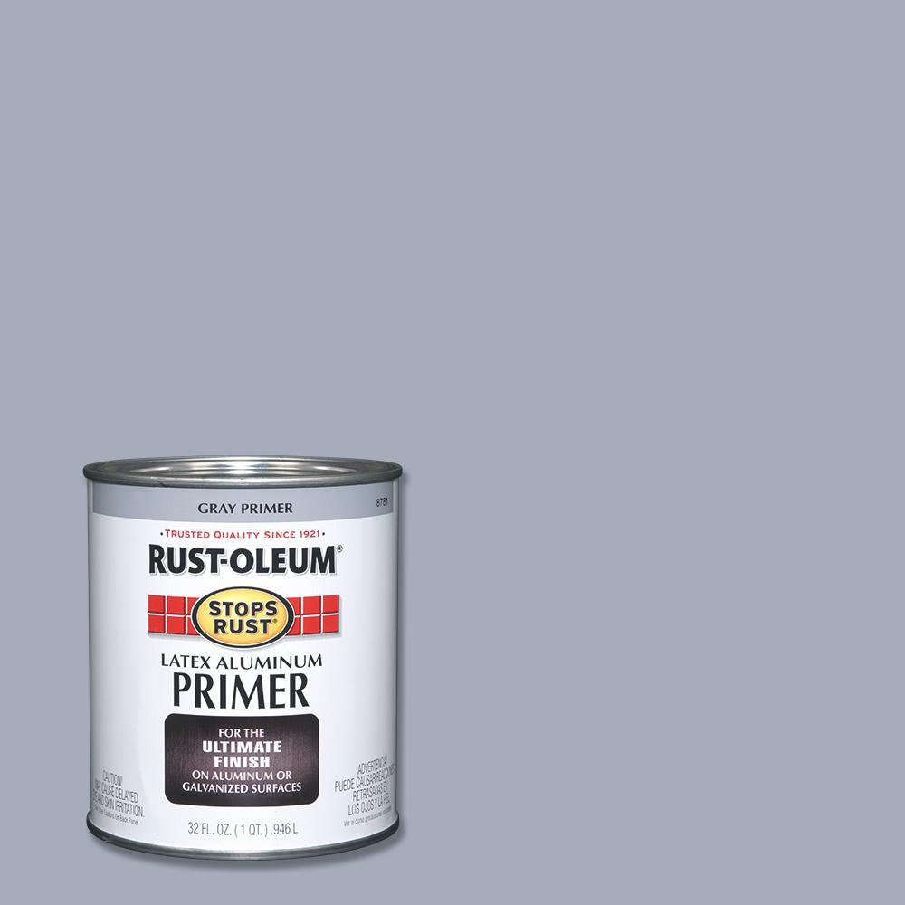 1 qt. Flat Gray Latex Aluminum Primer
