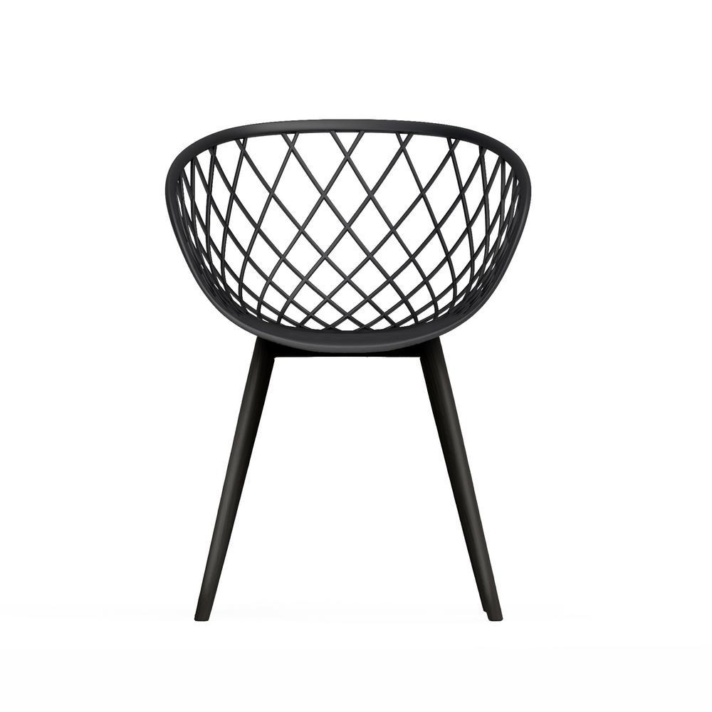 Kurv Black Arm Chair (Set of 2)